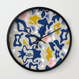 Leo Sea Peace Print by Anthea Missy Wall Clock