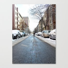 Upper West Side after the Snow Canvas Print