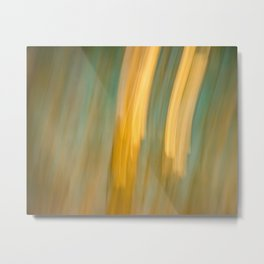 Ancient Gold and Turquoise Texture Metal Print