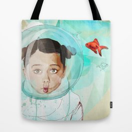 Fish Girl Tote Bag