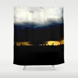 Wall Cloud Shower Curtain