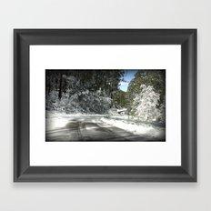 Winding road down Mt.Baw Baw Framed Art Print