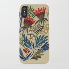 folkflower I iPhone X Slim Case