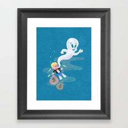 Where do friendly ghosts come from? Framed Art Print