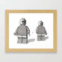 Building Block Men Framed Art Print