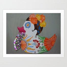 Pato Senorita - Lady Duck Art Print