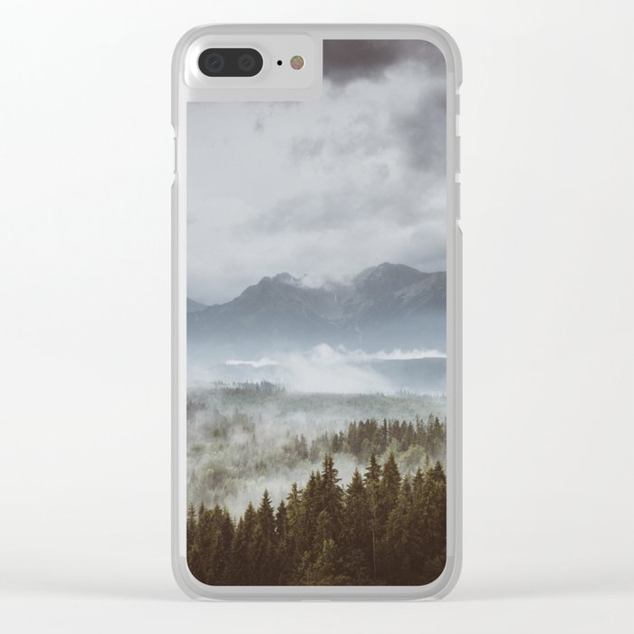 Misty mountains - Landscape and Nature Photography Clear iPhone Case