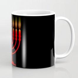 Menorh With Seven Candles Coffee Mug