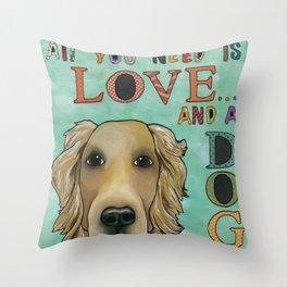 Love Dog Throw Pillow