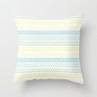 knit Throw Pillows featuring Knit 2 by K&C Design