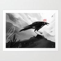 Crow King I Art Print