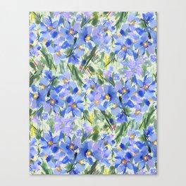 Blue Poppy Field Canvas Print
