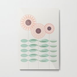 Blushing garden Metal Print