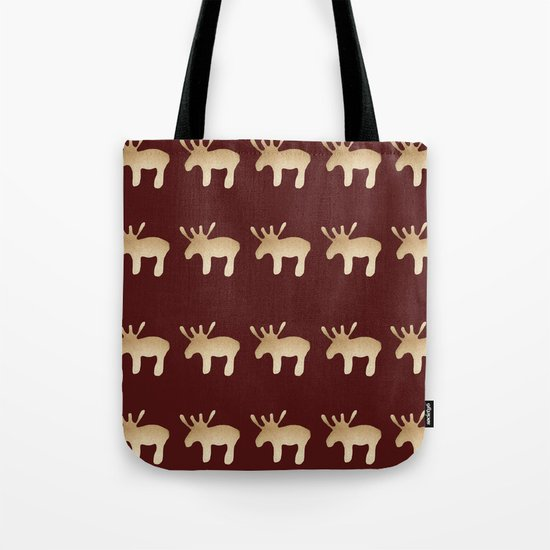 Reindeer queues Tote Bag