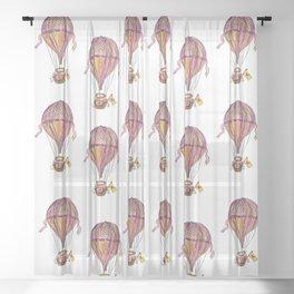 Hot Air Balloon Flight Sheer Curtain