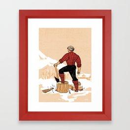 Lumberjack Hannibal Framed Art Print