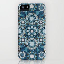 blue geometry  iPhone Case