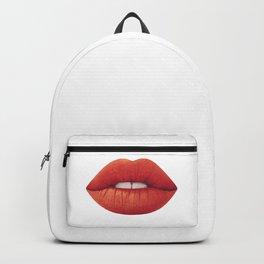 Woman Lips Backpack