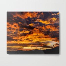 Sunset from Joshua Tree Metal Print