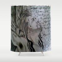 christ Shower Curtains featuring jesus christ by RobbinBanks420
