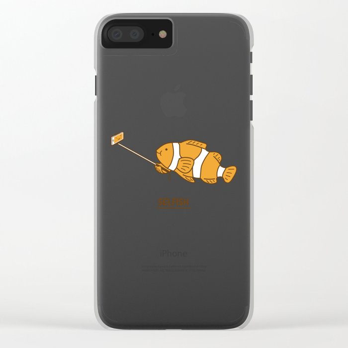 Selfish Clear iPhone Case
