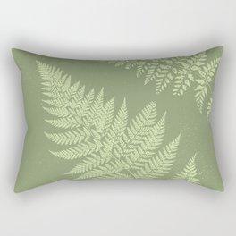 Dark olive fern Rectangular Pillow
