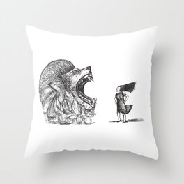 Be Louder Than Your Lions Throw Pillow