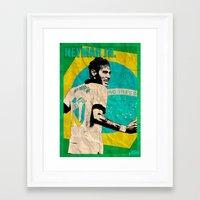 neymar Framed Art Prints featuring Neymar by John Sideris