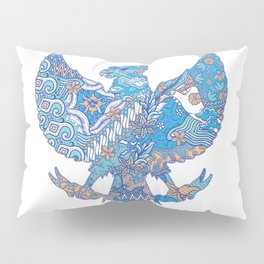 batik culture on garuda silhouette illustration Pillow Sham