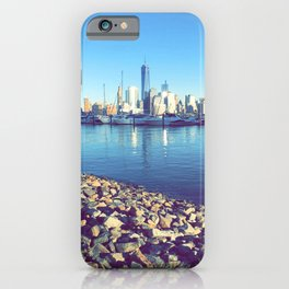 Hudson River Walk Way, Hoboken  iPhone Case