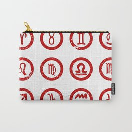 Sun Sign Rubber Stamps Carry-All Pouch