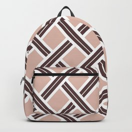 Modern Open Weave Pattern in Neutrals and Plums Backpack