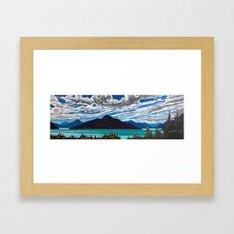Summer on Howe Sound Framed Art Print
