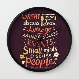Great Minds Wall Clock