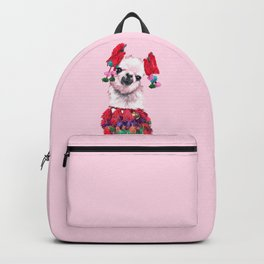 Llama in Colourful Costume Backpack