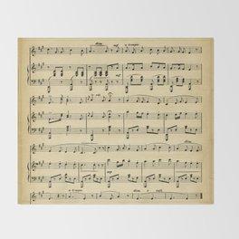 Antique Sheet Music Throw Blanket