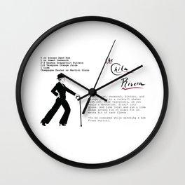The Chita Rivera Cocktail Recipe Wall Clock