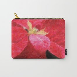 Mottled Red Poinsettia 2 Vivid Oil Carry-All Pouch