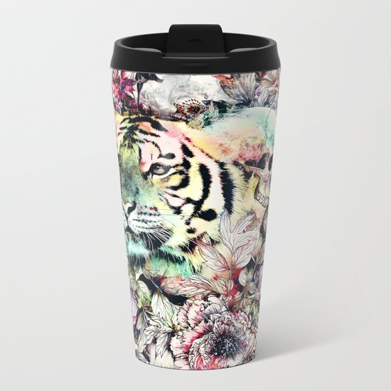 Interpretation of a dream - Tiger Metal Travel Mug