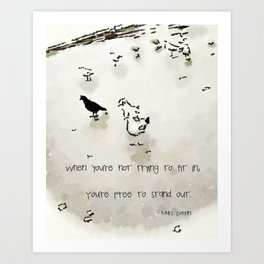 Be The Blackbird Art Print