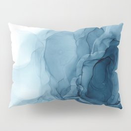 Classic Blue Abstract Abyss Painting Pillow Sham