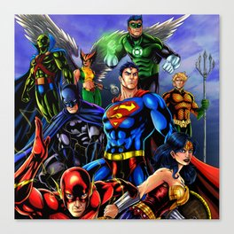 heroes all Canvas Print