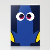pixar Stationery Cards featuring PIXAR CHARACTER POSTER - Dory - Finding Nemo by Marco Calignano