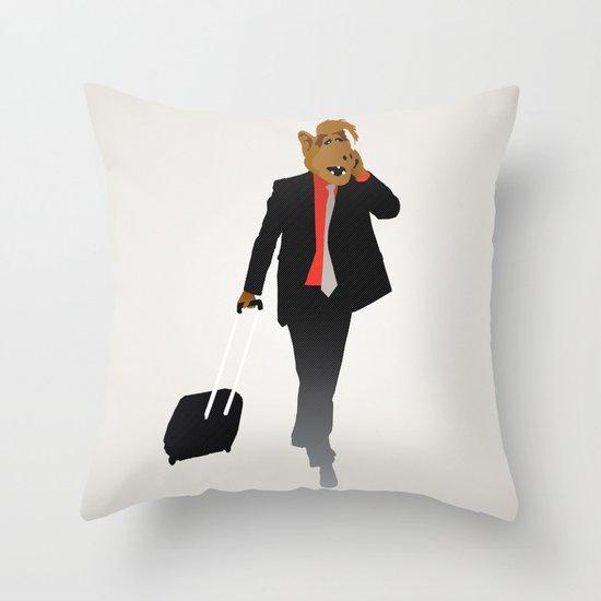 Industrious Alf Throw Pillow