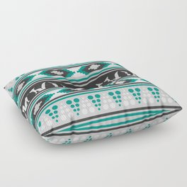 Ethnic pattern with foxes Floor Pillow