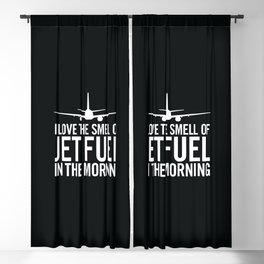 I Love the Smell of Jet Fuel in the Morning Aviation Illustration Blackout Curtain