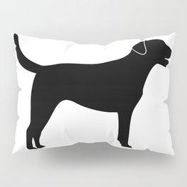 Black Labrador Retriever Silhouette Pillow Sham