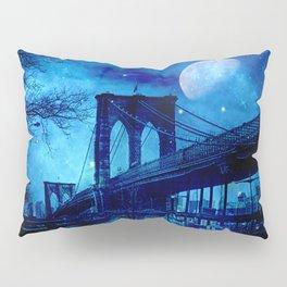 Full Moon Over Brooklyn Bridge Pillow Sham