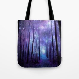 Fantasy Forest Path Icy Violet Blue Tote Bag