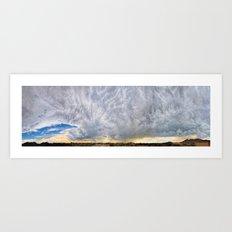 270 Degree Cloudy Sky Panorama Art Print
